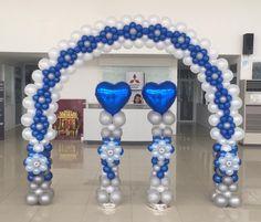 Balloon Gate, Balloon Tower, Ballon Arch, Deco Ballon, Balloon Backdrop, Balloon Columns, Birthday Balloon Decorations, Birthday Balloons, Royal Blue Wedding Decorations
