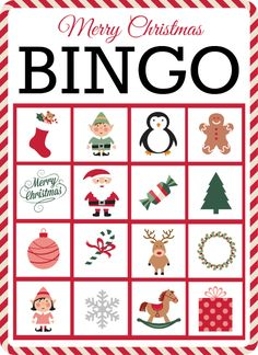 Christmas Bingo- 10 FREE Printable Cards #christmas