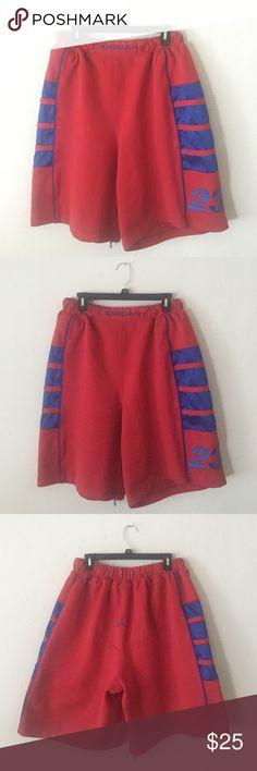 Men's Athletic Shorts size XL jordan Men's red black and white ...