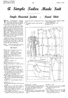 June 1942 Women's suit draft | cutterandtailor.com