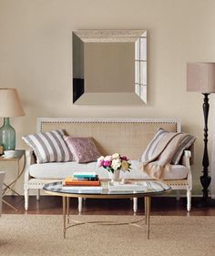 Pull Furniture Away From the Walls   Living in an apartment, or in an older home with tiny rooms, can present a challenge: how to make your limited space seem larger. Try these easy home-decorating ideas.