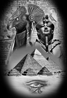 Leg Tattoo Men, Leg Tattoos, Tattoos For Guys, Sleeve Tattoos, Egypt Tattoo Design, Tattoo Designs, Egyptian Symbols, Egyptian Art, Anubis Drawing