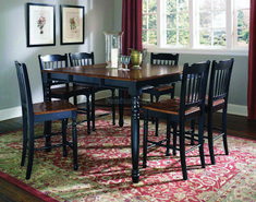 British Isles, British Isles Counter Height Table in Antique Black/Oak Dining Room Set, Dining Room Table Sets, Bedroom Furniture, Curio Cabinets and Solid Wood Furniture - Model - Home Gallery Stores Furniture Oak Dining Room Set, Cheap Dining Room Sets, Diy Dining Room Table, Dining Room Furniture, Bamboo Furniture, Cheap Home Decor Stores, Cheap Furniture Stores, Farmhouse Table Plans, America Furniture
