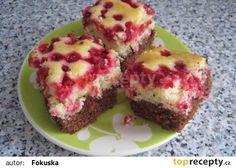Dvoubarevný rybízový koláč recept - TopRecepty.cz