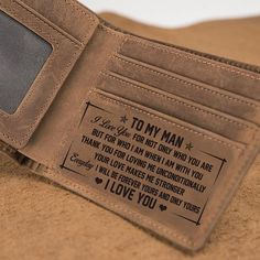 Leather Wallet To My Man - Perfect Gifts For Husband - Chris.- Leather Wallet To My Man – Perfect Gifts For Husband – Christmas Gift For Husband - Bday Gifts For Him, Surprise Gifts For Him, Valentine Gifts For Husband, Bf Gifts, Gifts For Fiance, Christmas Gifts For Husband, Love Gifts, Gift For Men, Birthday Gift For Husband