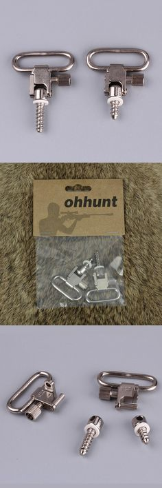 [Visit to Buy] Ohhunt Tactical Hunting Gun Accessories QD Push Button Detachable Silvery Gun Sling Swivels for Most Bolt Action Rifle #Advertisement