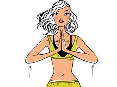Mardi : spécial haut du corps: 1 minute de pompes à genoux, 2 minutes de triceps (mains sur dossier chaise), 2 min. prière hindoue. Debout les mains jointes comme photo, levez les bras progressivement au-dessus de la tête 100 fois