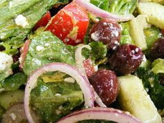Greek Salad with  home made dressing