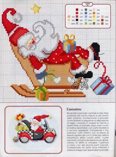 Thrilling Designing Your Own Cross Stitch Embroidery Patterns Ideas. Exhilarating Designing Your Own Cross Stitch Embroidery Patterns Ideas. Santa Cross Stitch, Counted Cross Stitch Patterns, Cross Stitch Charts, Cross Stitch Designs, Cross Stitch Embroidery, Embroidery Patterns, Theme Noel, Christmas Embroidery, Cross Stitch Flowers