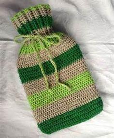 Crochet Hot Water Bottle Cover Pattern by StudioSunshine on Etsy Diy Crochet And Knitting, Crochet Home, Free Crochet, Crochet Kitchen, Pocket Warmers, Knitting Patterns, Crochet Patterns, Crochet Ideas, Water Bottle Covers