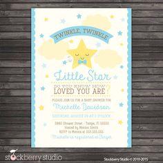 Twinkle Twinkle Baby Shower Invitation by stockberrystudio on Etsy