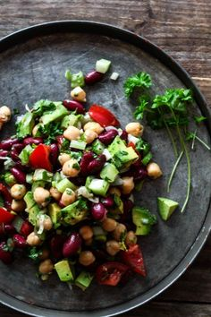 Mexican bean salad. Spicy and freash | louiogbearnaisen.dk