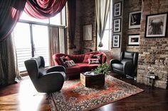 El sofá Josephine y los sillones Romeo de Fama en un loft de Chicago