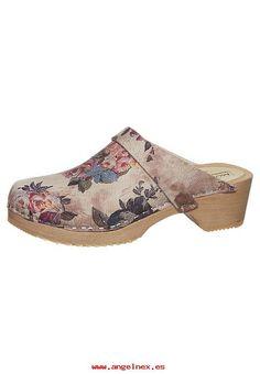 Agraciado De las Mujeres Moheda Toffeln LENA Zuecos dark rose Piel Sin cierre/abiertos Zapatos MD811B001-302
