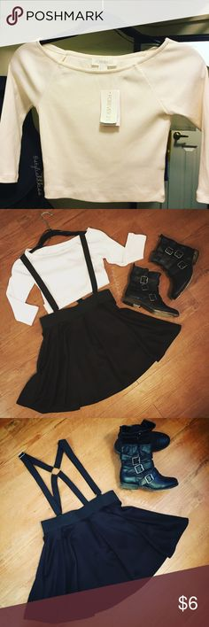 Forever 21 Knit Crop Top Basic style perfect for layering! Consider bundling with the suspender skater skirt... Forever 21 Tops Crop Tops