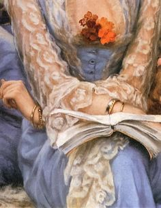 Let's read, detail...  James Tissot
