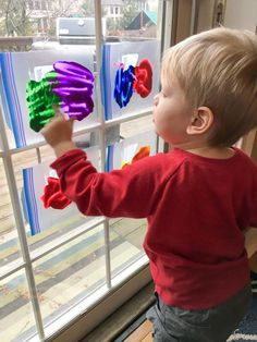 ziploc bag finger painting