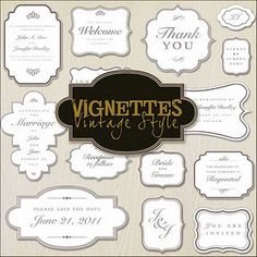 Vgnettes Frames - Free Download of PNG Files