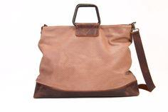 Coffee Brown Leather Tote Bag / Sac Bag / Over Size Shoulder Bag / Cross Body Travel Bag / Laser Cut Pattern Purse / Handbag - Sabrina by EllenRubenBagsShoes on Etsy https://www.etsy.com/listing/193672534/coffee-brown-leather-tote-bag-sac-bag