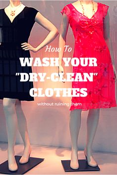 """Yes, you CAN wash many """"dry-clean"""" clothes! Here's what you can wash and how to wash it. Why pay the """"pink tax"""" to dry-clean women's clothing if you don't have to? From @HousewifeHowTos"""