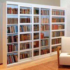 Tellus valkoinen / kirkas lasi Kallax, Bookcase, Shelves, Room, Home Decor, House, Bedroom, Shelving, Decoration Home
