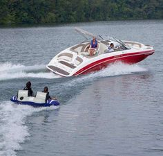 How About SX 240 High Output Yamaha Jet Boat In Red And Taking The Kids For