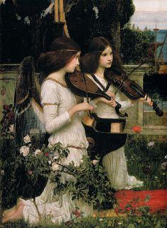 "honeylinen:    tierradentro:    ""Saint Cecilia"" (detail), 1895, John William Waterhouse. (source)    ♡"