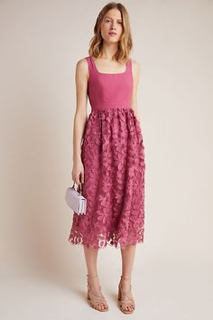 Virginia Textured Midi Dress by Maeve in Pink Size: Women& Dresses at A. Virginia Textured Midi Dress by Maeve in Pink Size: Women& Dresses at Anthropologie Anthropologie Uk, Anthropologie Christmas, Anthropologie Clothing, Pink Gowns, Napa Valley, Tank Dress, Casual Dresses For Women, Martini, Virginia