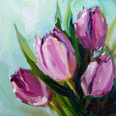 "Daily Paintworks - ""Die Tulpen"" - Original Fine Art for Sale - © Jurij Frey Easy Flower Painting, Tulip Painting, Flower Art, Watercolor Paintings, Easy Canvas Art, Cool Art Drawings, Pastel Art, Fine Art Gallery, Oeuvre D'art"