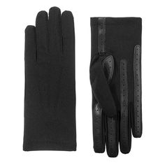 Caiman Gloves: Men's Fleece-Lined Goat Grain Leather ...