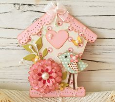 Bird House Sweet n Cute Spring Bird Embellishment