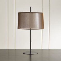 Eclipse Bronze Table Lamp - Crate and Barrel Silver Table Lamps, Unique Table Lamps, Contemporary Table Lamps, Barrel Table, Crate And Barrel, Lamp Inspiration, Interior Inspiration, Fabric Shades, Interior Lighting