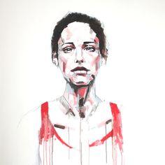 Simple Use of colour lines. Color Lines, Colour, Gcse Art, Portrait, Simple, Color, Headshot Photography, Portrait Paintings, Performing Arts