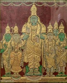 Parthasarathi, tanjore painting, photo by Indradyumna Swami Mysore Painting, Kerala Mural Painting, Tanjore Painting, Temple India, Indian Folk Art, Acrylic Painting Techniques, Hindu Art, Buddhist Art, Vintage Photography