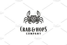 Crab & Hops for Beer / Brewery logo Winery Logo, Beer Hops, Beer Brewery, Modern Logo, Logo Ideas, Bitter, Logo Templates, Craft Beer, Fancy