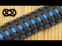 How to make a (King Cobra) Thin Blue Line Paracord Bracelet Paracord Dog Leash, Paracord Keychain, Paracord Bracelets, Hemp Bracelets, Survival Bracelets, Bracelet Knots, Paracord Tutorial, Bracelet Tutorial, Paracord Braids
