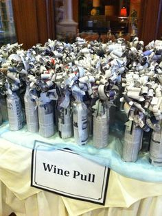 Wine Wall for Your Charity Auction Fundraiser — Charity Auctioneer Jim Miller : Wine raffle idea-Have a few expensive bottles mixed with cheaper wines New twist. Casa Rock, Mishloach Manos, Wine Pull, Fete Ideas, Event Ideas, Bunco Ideas, Stag And Doe, Little Mac, Raffle Baskets