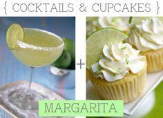 Cocktails with matching cupcakes. Mmmmmmmm....