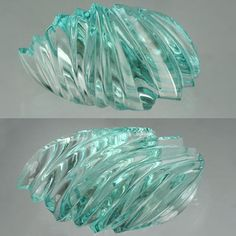 Fantastic carved aquamarine, unheated. 53.65 ct, cut by John Dyer, a young rock…