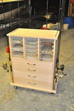 The Best Woodworking Tools Fishing Storage Cabinet.The Best Woodworking Tools Fishing Storage Cabinet Awesome Woodworking Ideas, Woodworking Joints, Woodworking Patterns, Woodworking Workbench, Woodworking Workshop, Woodworking Techniques, Woodworking Projects, Woodworking Videos, Woodworking Machinery