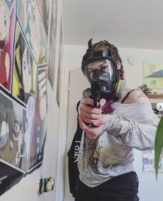 Respirator Mask, Mask Girl, Guns, Female, Fictional Characters, Mascaras, Weapons Guns, Revolvers, Weapons