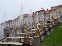 Peterhof Palace's Grand Cascade fountain.