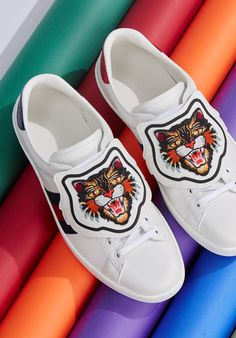 11b8220ab Gucci cat trainers Shoe Box, Baby Shoes, Trainers, Menswear, Gucci, Vans