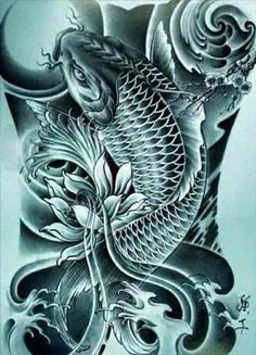 Tattoos From Around The World – Voyage Afield Pez Koi Tattoo, Koi Tattoo Sleeve, Carp Tattoo, Tattoo Sleeve Designs, Japanese Koi Fish Tattoo, Koi Fish Drawing, Japanese Tattoo Designs, Dragon Koi Tattoo Design, Asian Dragon Tattoo