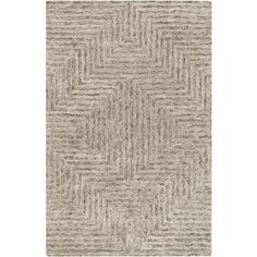 Undyed viscose and wool are hand tufted for a rugged and rustic Falcon Collection rug from Surya. (FLC-8000)