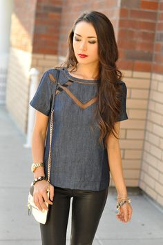 for the love of denim, this top is amazing