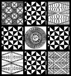 Collage of Tongan motifs