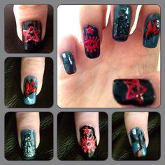 Tim Burton's Sleepy Hollow themed Nails :)