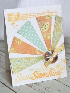 Hello Sunshine Card by Michelle Wooderson for Papertrey Ink (June 2012)