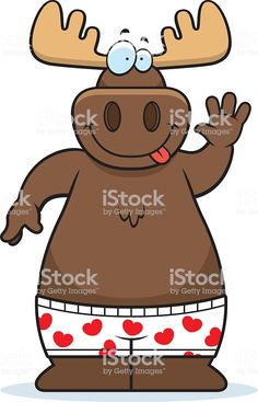 Cartoon Moose Boxers royalty-free cartoon moose boxers stock vector art & more images of 2015